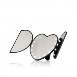 Specchio cuore con luci led